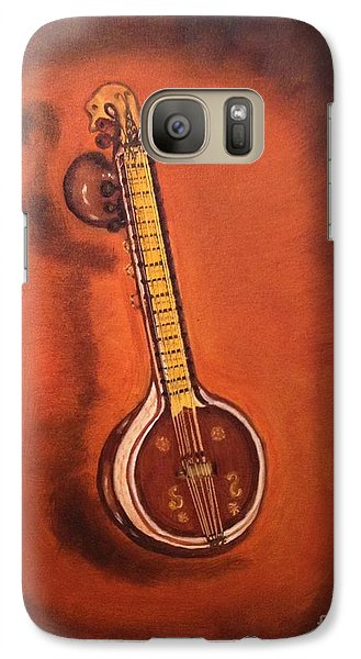 Galaxy Case featuring the painting Veena by Brindha Naveen