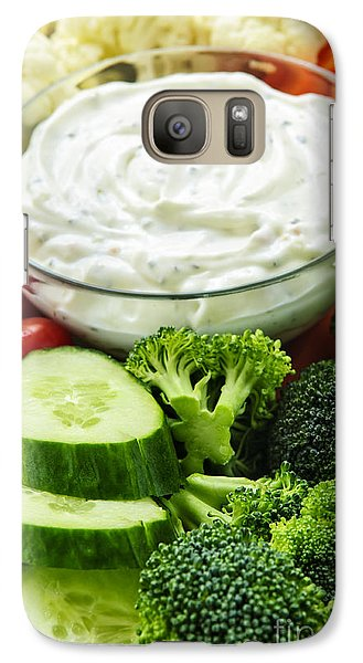 Cauliflower Galaxy S7 Case - Vegetables And Dip by Elena Elisseeva