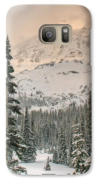 Galaxy Case featuring the photograph Veiled Mountain by Jeff Cook
