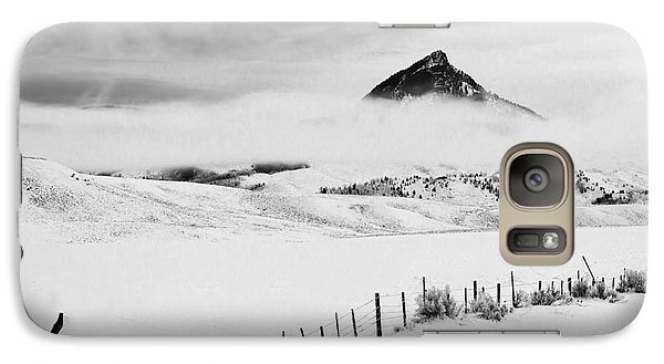 Galaxy Case featuring the photograph Veiled Winter Peak by Kristal Kraft