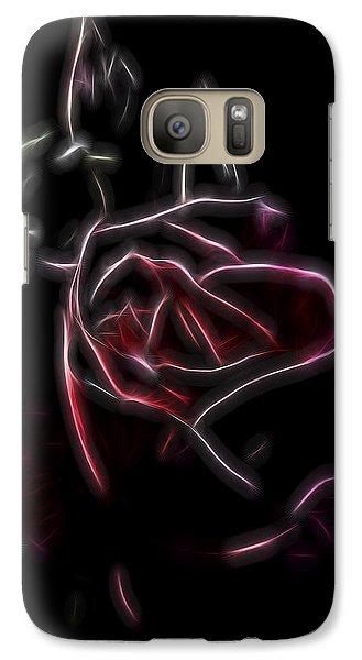Galaxy Case featuring the digital art Velvet Rose 2 by William Horden
