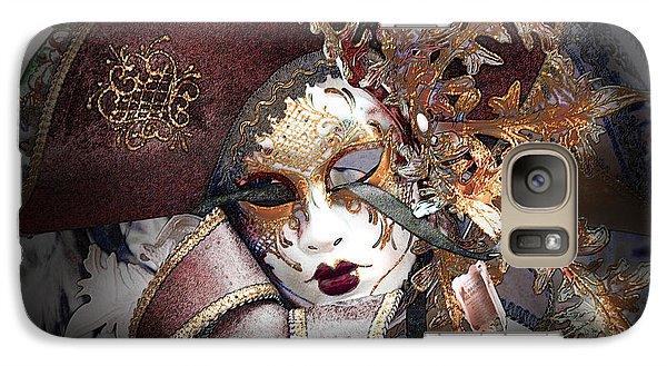 Galaxy Case featuring the digital art Venetian Carnival Mask by David Blank