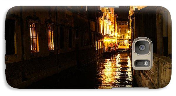 Galaxy Case featuring the photograph Venetian Golden Glow by Georgia Mizuleva