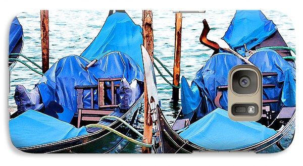Galaxy Case featuring the digital art Venetian Gondolas by Brian Davis