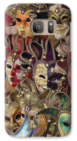 Galaxy Case featuring the photograph Venetian Masks by Ramona Johnston