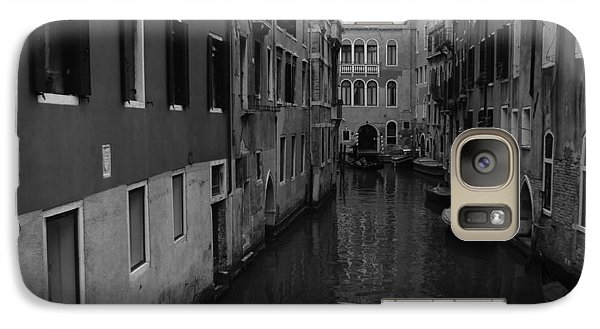 Galaxy Case featuring the photograph Venetian Monochrome Bw by Walter Fahmy