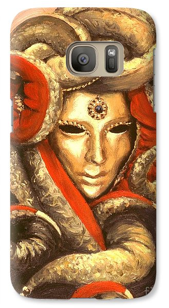 Galaxy Case featuring the painting Venetian Mystery Mask by Michael Swanson