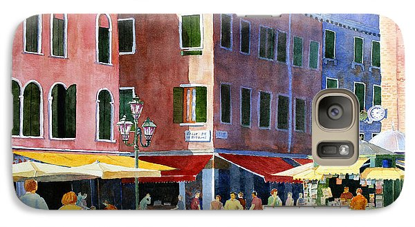 Galaxy Case featuring the painting Venetian Piazza by Roger Rockefeller