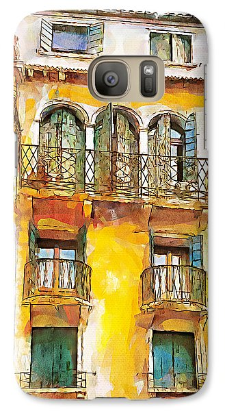 Galaxy Case featuring the painting Radiant Abode by Greg Collins