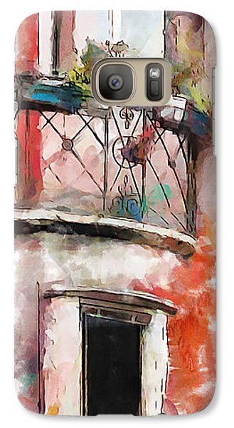 Galaxy Case featuring the painting Venetian Windows 4 by Greg Collins