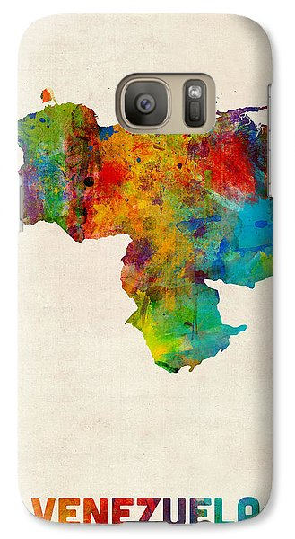 Venezuela Watercolor Map Galaxy Case by Michael Tompsett