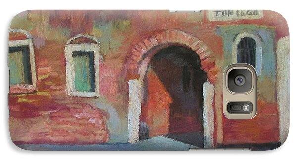 Galaxy Case featuring the painting Venice Doorway by Linda Novick
