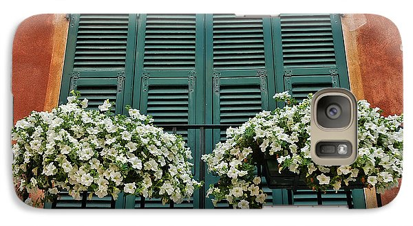 Galaxy Case featuring the photograph Venice Flower Balcony 2 by Allen Beatty