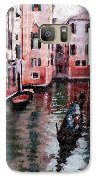 Galaxy Case featuring the painting Venice Gondola Ride by Janet King