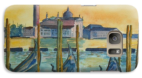 Galaxy Case featuring the painting Venice Gondolas by Geeta Biswas
