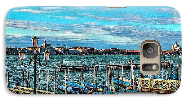 Galaxy Case featuring the photograph Venice Gondolas On The Grand Canal by Kathy Churchman