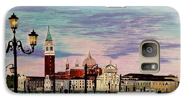 Galaxy Case featuring the painting Venice  Italy By Jasna Gopic by Jasna Gopic