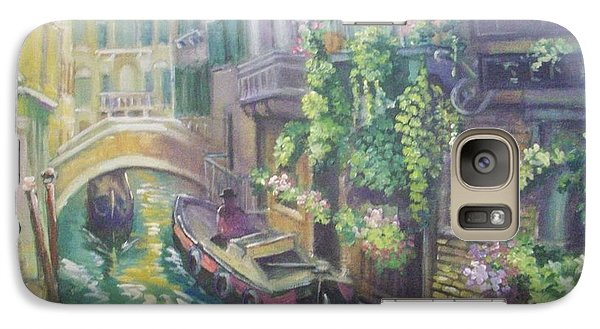 Galaxy Case featuring the painting Venice -italy by Paul Weerasekera