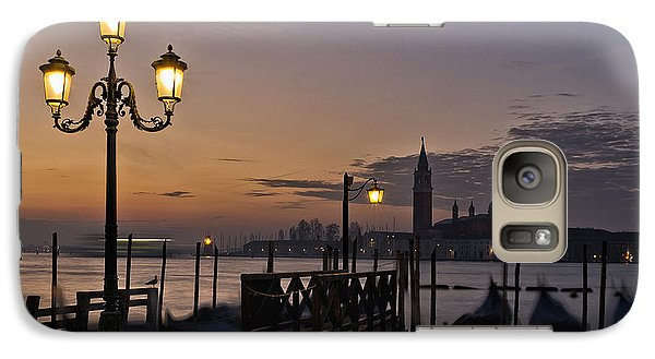 Galaxy Case featuring the photograph Venice Night Lights by Marion Galt