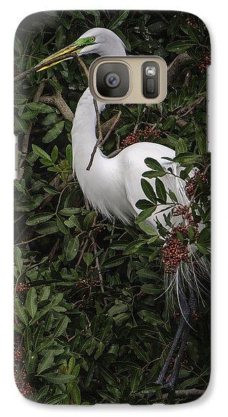Venice Rookery Egret Galaxy S7 Case
