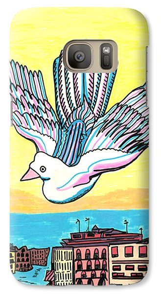 Galaxy Case featuring the drawing Venice Seagull by Don Koester