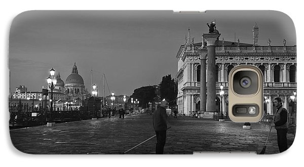 Galaxy Case featuring the photograph Venice Sweepers by Marion Galt
