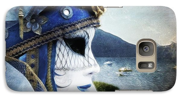 Galaxy Case featuring the photograph Venitian Carnival - La Dame Du Lac by Barbara Orenya