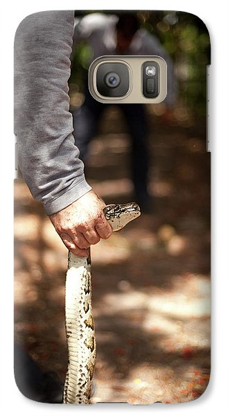 Burmese Python Galaxy S7 Case - Venom Response Unit In The Search by Robert Gallagher