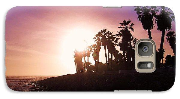 Galaxy Case featuring the photograph Ventura Beach Sunset by Mary Ellen Frazee
