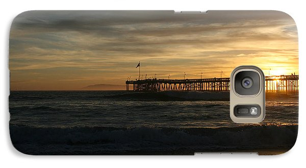 Galaxy Case featuring the photograph Ventura Pier 01-10-2010 Sunset  by Ian Donley