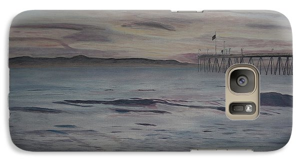 Galaxy Case featuring the painting Ventura Pier High Surf by Ian Donley