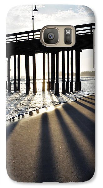 Galaxy Case featuring the photograph Ventura Pier Shadows by Kyle Hanson