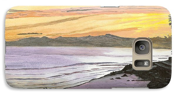 Galaxy Case featuring the painting Ventura Point At Sunset by Ian Donley