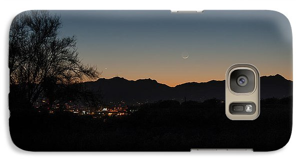 Galaxy Case featuring the photograph Venus And A Young Moon Over Tucson by Dan McManus