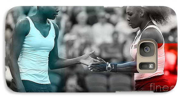 Serena Williams Galaxy S7 Case - Venus Williams And Serena Williams by Marvin Blaine