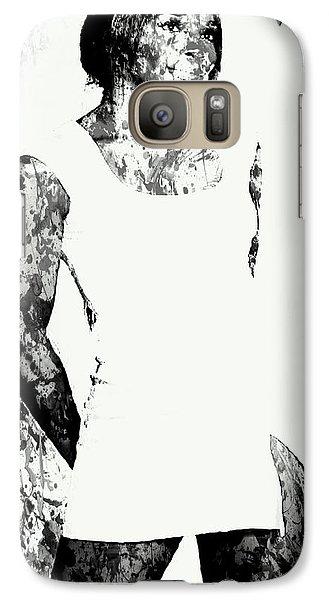 Venus Williams Paint Splatter 2c Galaxy S7 Case by Brian Reaves