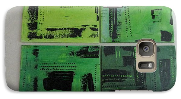 Galaxy Case featuring the painting Verdant Earth by Sharyn Winters