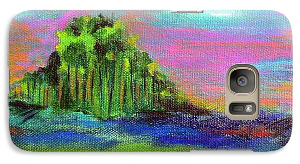 Galaxy Case featuring the painting Verdant Tuft by Elizabeth Fontaine-Barr
