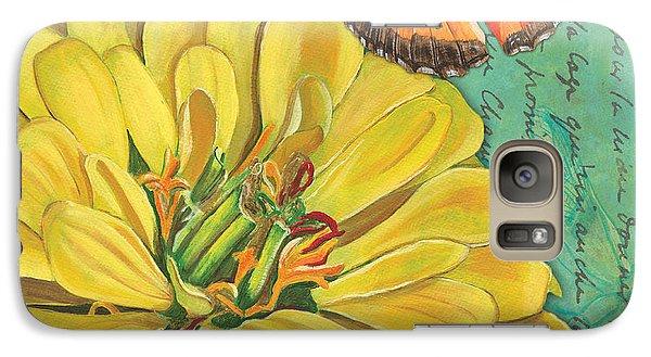 Verdigris Floral 2 Galaxy S7 Case by Debbie DeWitt