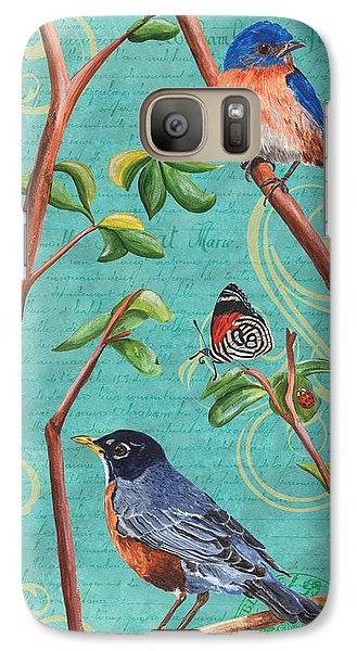 Verdigris Songbirds 1 Galaxy S7 Case by Debbie DeWitt