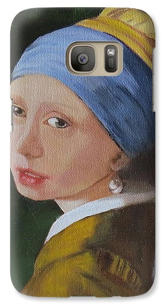 Galaxy Case featuring the painting Vermeer Study by Sharon Schultz