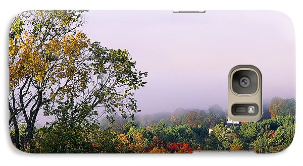 Galaxy Case featuring the photograph Vermont Autumn Morning by Alan L Graham