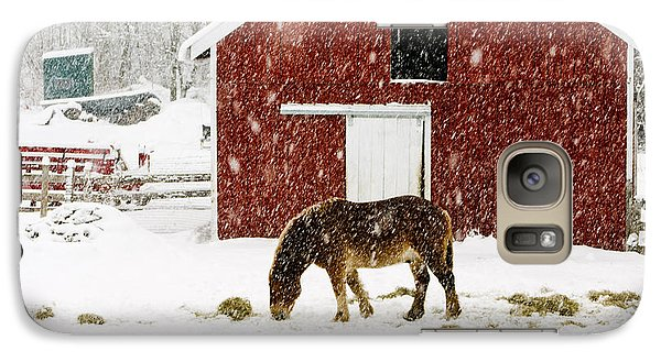 Vermont Christmas Eve Snowstorm Galaxy S7 Case by Edward Fielding