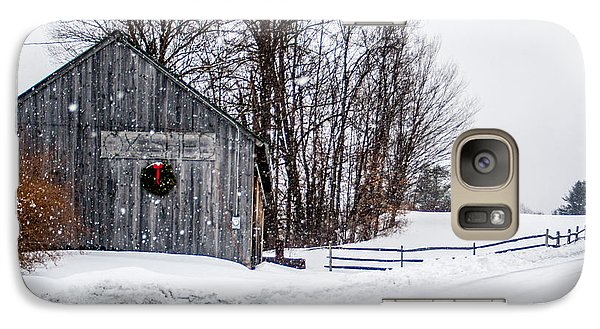 Galaxy Case featuring the photograph Vermont Christmas Lane by Dawn Romine