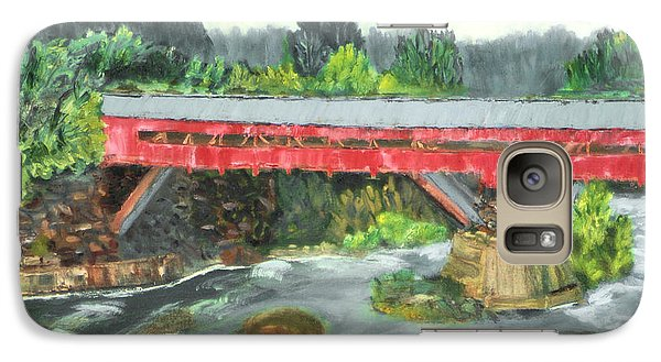 Galaxy Case featuring the painting Vermont Covered Bridge by Michael Daniels