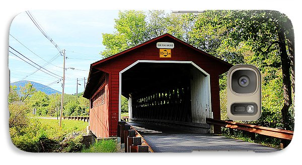 Galaxy Case featuring the photograph Vermont Covered Bridge by Trina  Ansel
