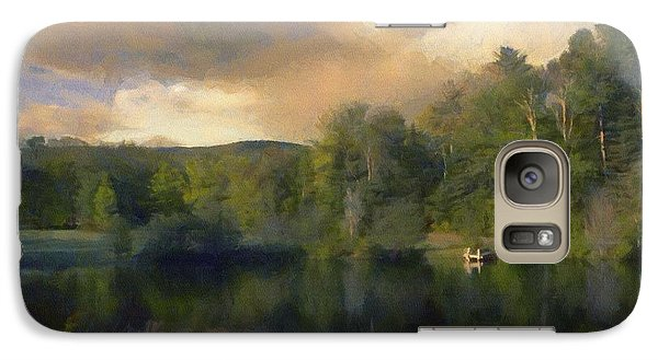 Galaxy Case featuring the painting Vermont Morning Reflection by Jeff Kolker