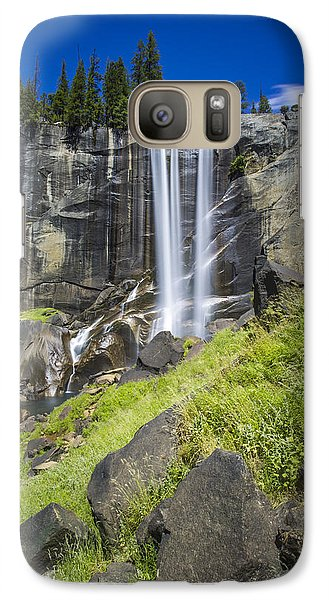 Galaxy Case featuring the photograph Vernal Falls In July At Yosemite by Mike Lee