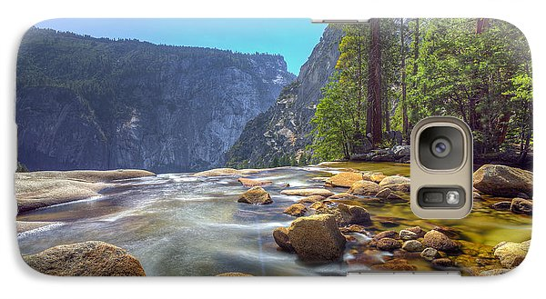 Galaxy Case featuring the photograph Vernal Falls Overlook by Mike Lee