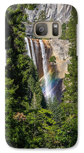 Galaxy Case featuring the photograph Vernal Falls Rainbow by Mike Lee